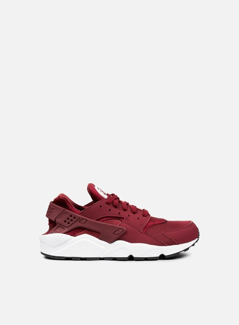 sneakers nike air huarache team red team red white
