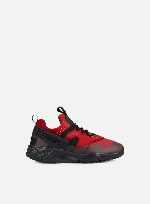 sneakers nike air huarache utility gym red black