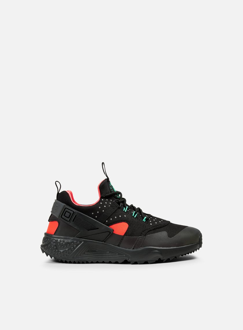 Nike - Air Huarache Utility PRM, Black/Black/Bright Crimson
