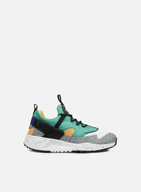 sneakers nike air huarache utility prm white black emerald green