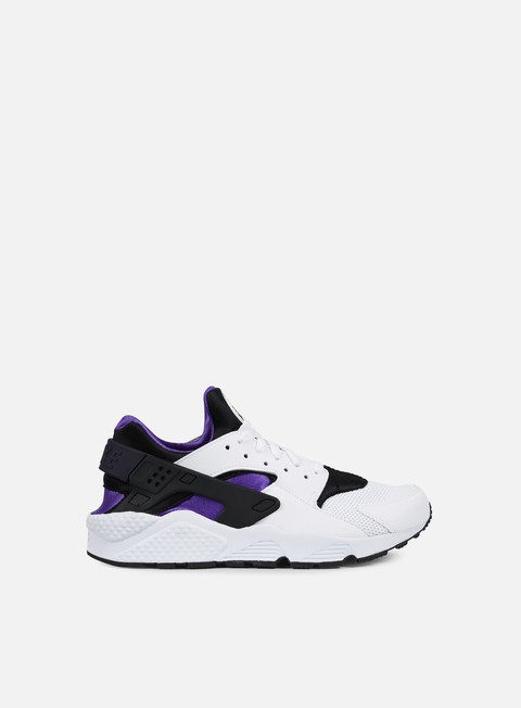 sneakers nike air huarache white hyper grape black
