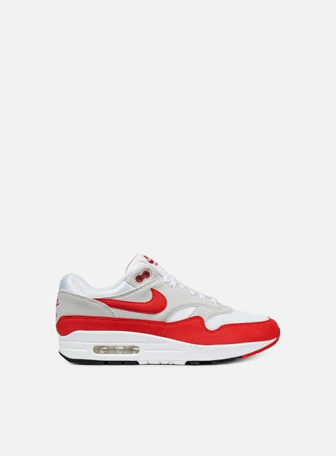 sneakers nike air max 1 anniversary white university red