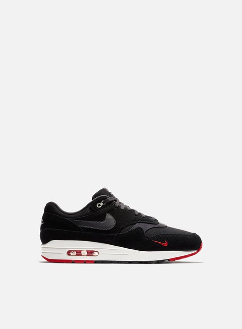 sneakers nike air max 1 premium black oil grey university red