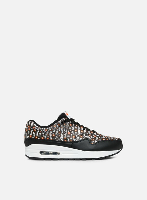 sneakers nike air max 1 premium black white total orange