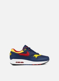 Nike - Air Max 1 Premium, Navy/Gym Red/Vivid Sulfur