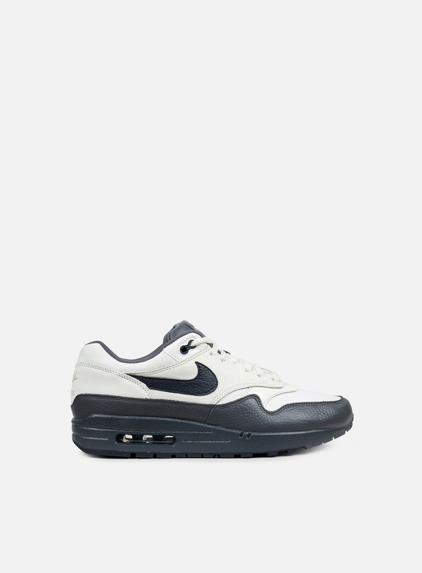 Nike - Air Max 1 Premium, Sail/Dark Obsidian/Dark Grey