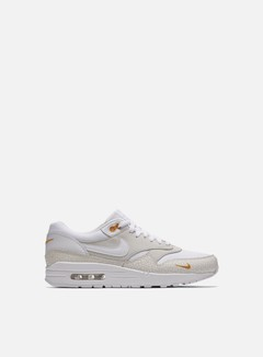 Nike - Air Max 1 Premium, White/White/Kumquat