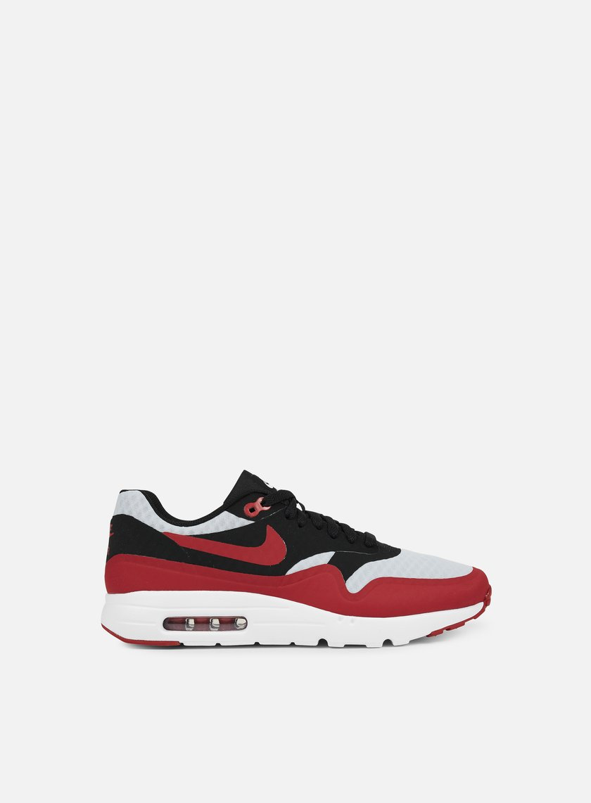 Nike - Air Max 1 Ultra Essential, Pure Platinum/Gym Red/Black