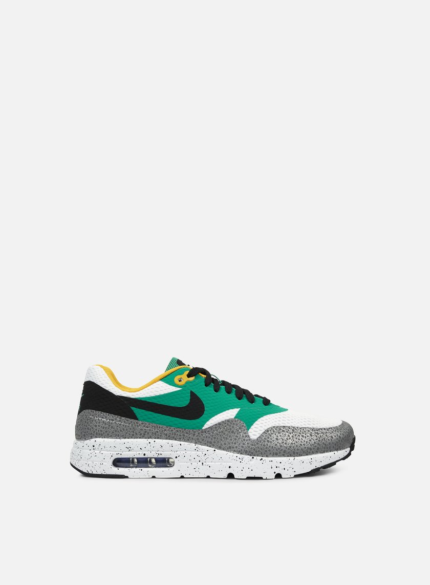 Nike - Air Max 1 Ultra Essential, White/Black/Emerald Green