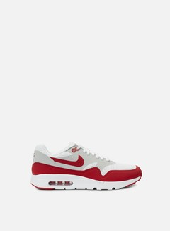 Nike - Air Max 1 Ultra Essential, White/Varsity Red/Neutral Grey