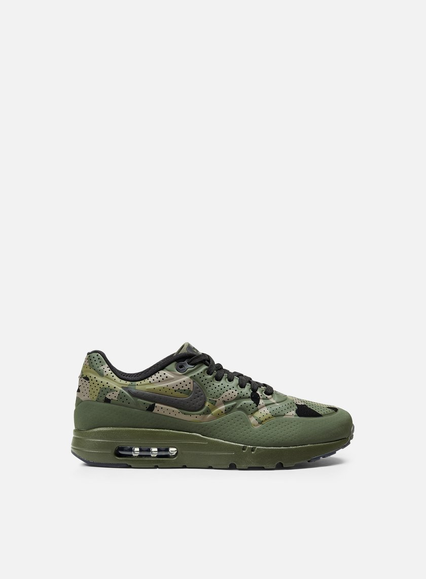 Nike - Air Max 1 Ultra Moire Print, Carbon Green/Black/Rough Green