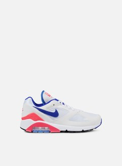 Nike - Air Max 180, White/Ultramarine/Solar Red