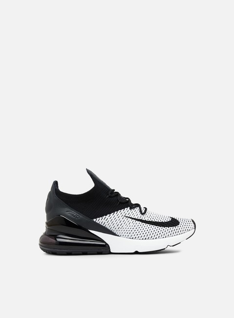 sneakers nike air max 270 flyknit white black
