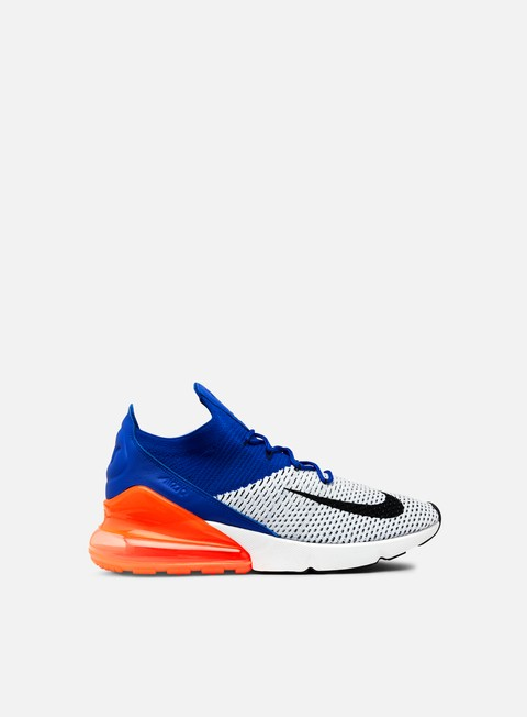 sneakers nike air max 270 flyknit white black racer blue