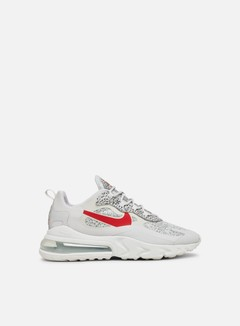 Nike - Air Max 270 React, Natural Grey/University Red