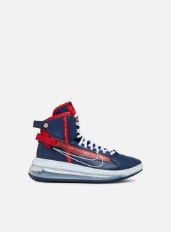 Nike - Air Max 720 Saturn, Midnight Navy/White/Gym Red