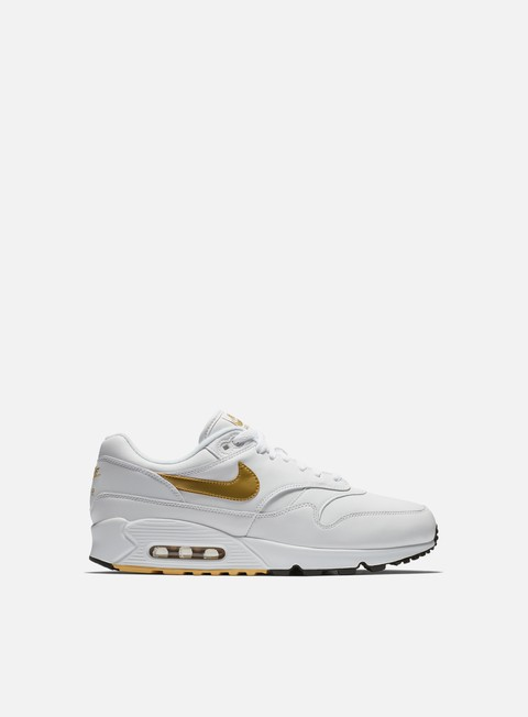 sneakers nike air max 90 1 white metallic gold black