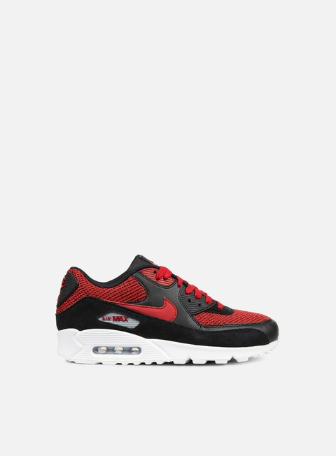 sneakers nike air max 90 essential black tough red tough red