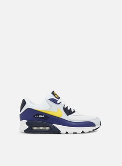 Nike - Air Max 90 Essential, White/Tour Yellow/Blue Recall