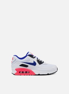 Nike - Air Max 90 Essential, White/Ultramarine/Solar Red