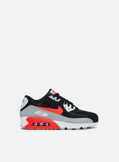 Nike - Air Max 90 Essential, Wolf Grey/Bright Crimson/Black