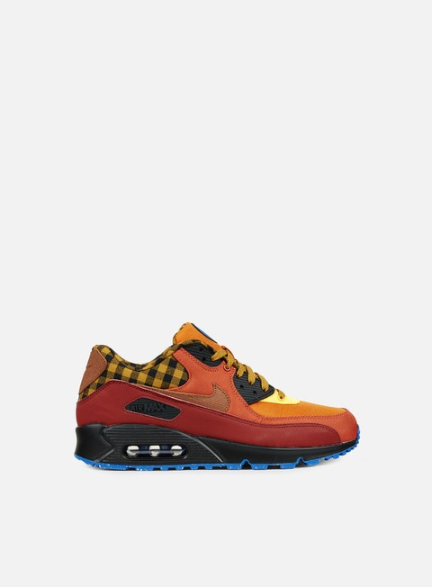 sneakers nike air max 90 premium dark cayenne cognac gold suede