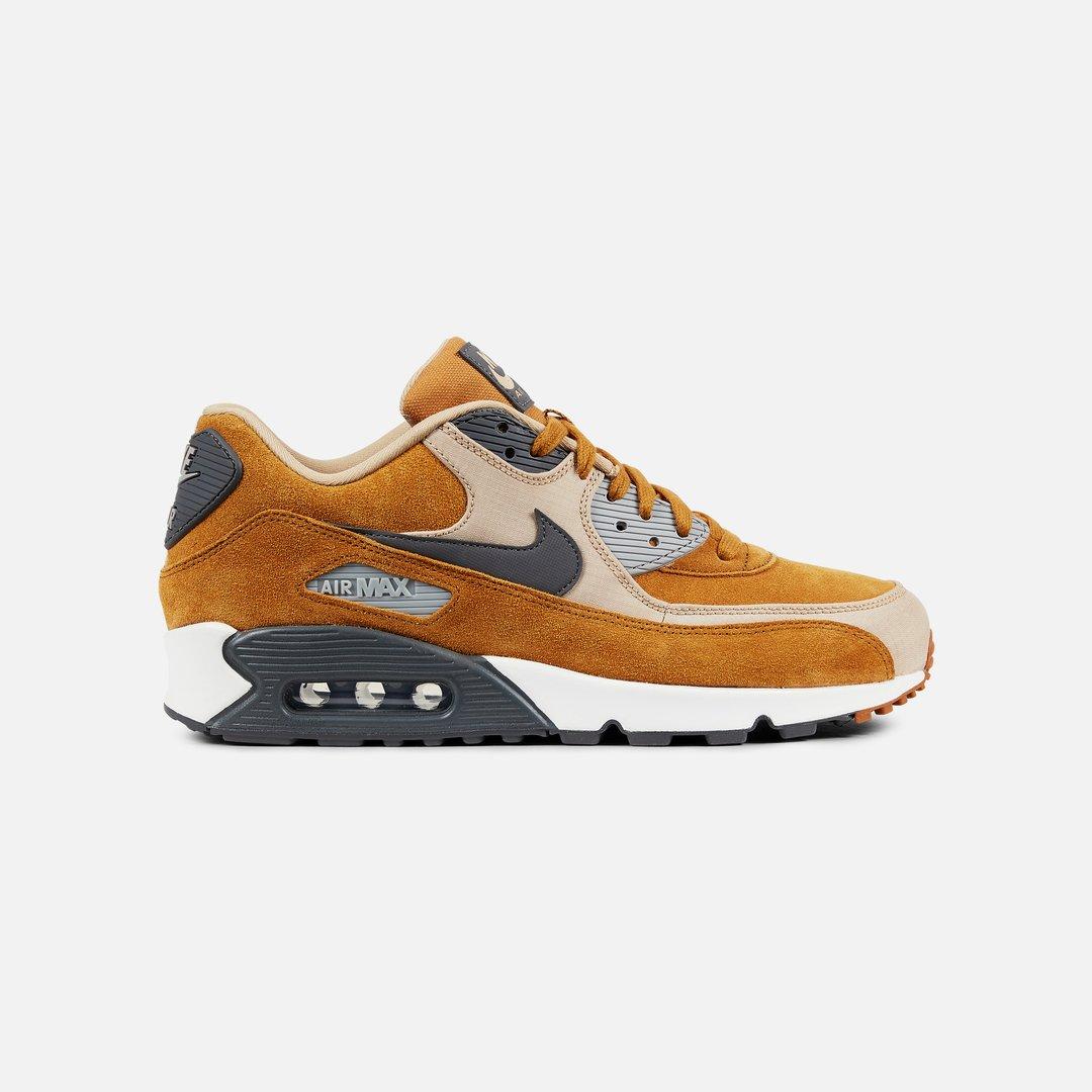 Nike Air Max 90 Premium Men, Desert Ochre Dark Grey Linen ...