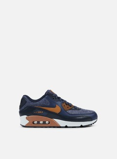 Nike - Air Max 90 Premium, Thunder Blue/Ale Brown/Dark Obsidian