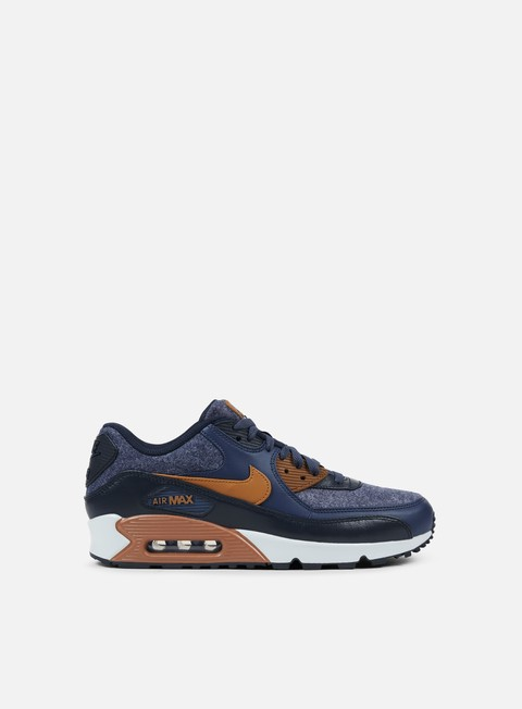 sneakers nike air max 90 premium thunder blue ale brown dark obsidian