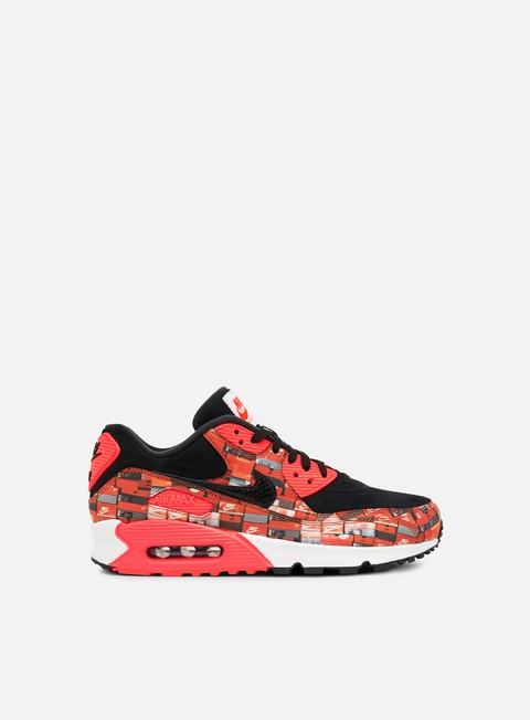 sneakers nike air max 90 prnt black bright crimson