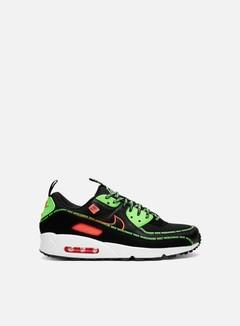 Nike - Air Max 90 SE, Black/Flash Crimson/Green Strike/White