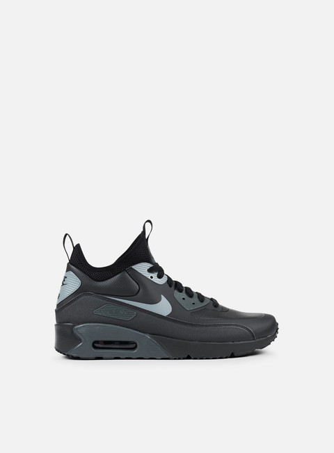 sneakers nike air max 90 ultra mid winter black cool grey anthracite
