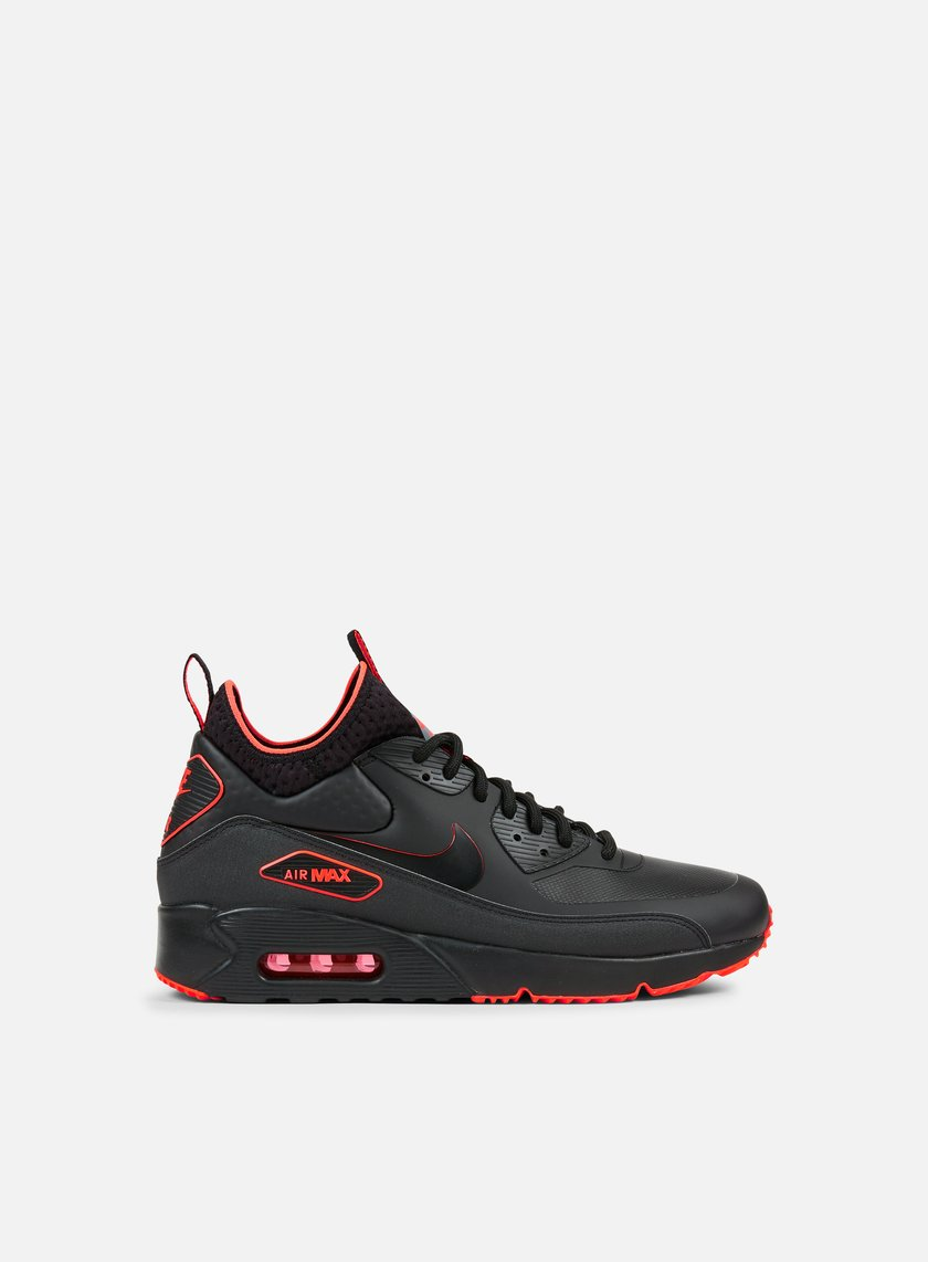 Nike - Air Max 90 Ultra Mid Winter SE, Black/Black/Total Crimson