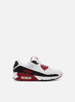 Nike - Air Max 90, White/White/New Maroon/Black