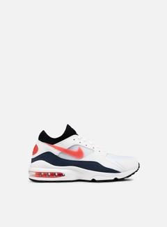 Nike - Air Max 93, White/Habanero Red/Neutral Indigo