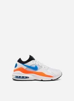 Nike - Air Max 93, White/Nebula Blue/Total Orange/Black