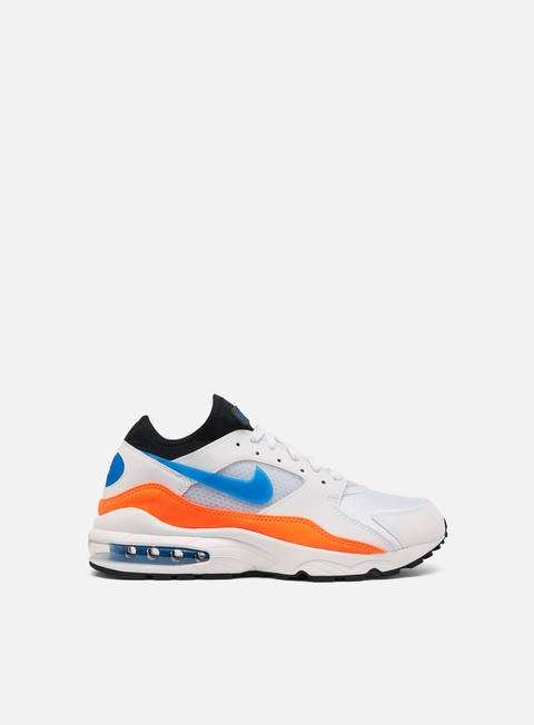 sneakers nike air max 93 white nebula blue total orange black