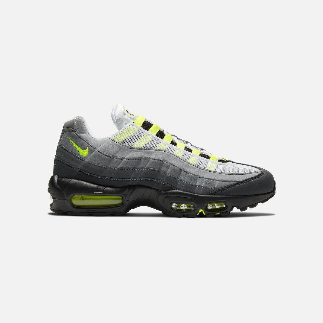 Nike Air Max 95 OG Uomo, Black Neon Yellow Lt Graphite ...