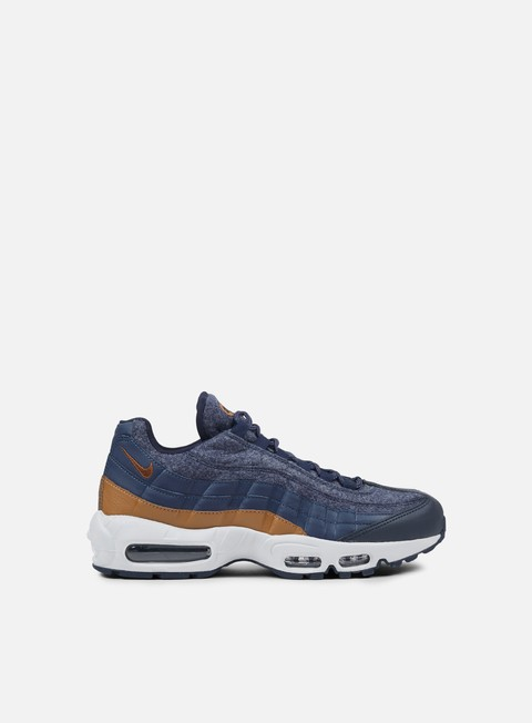 sneakers nike air max 95 premium thunder blue ale brown dark obsidian