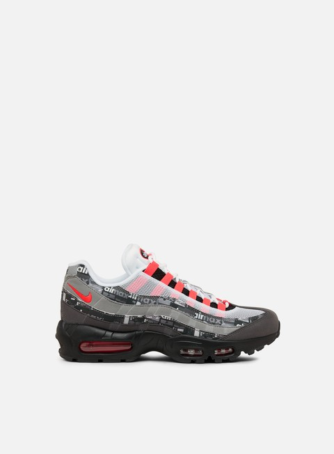 sneakers nike air max 95 prnt black bright crimson white