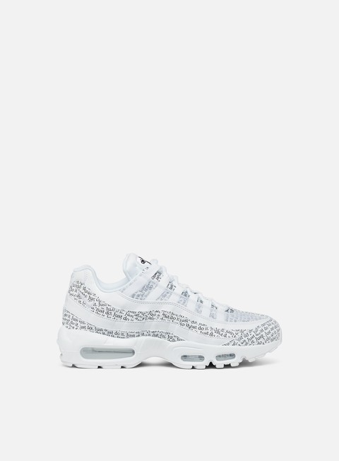 sneakers nike air max 95 se white white white black