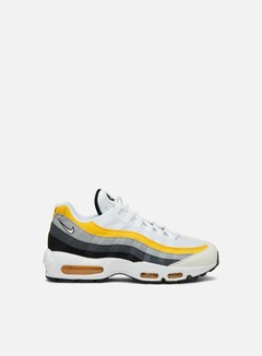 Nike - Air Max 95, White/White/Amarillo/Dark Grey