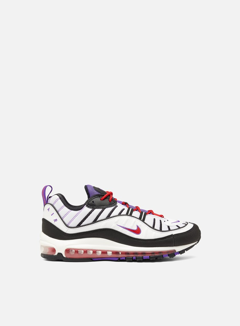Nike Air Max 98 Men, White Black Psychic Purple | Graffitishop
