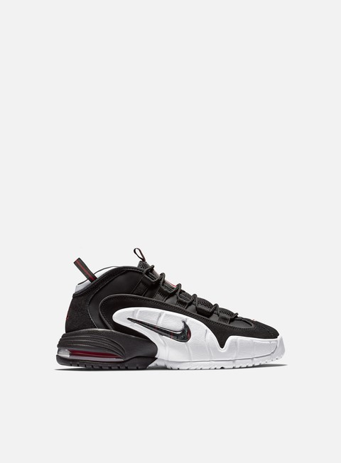 sneakers nike air max penny black black white university red