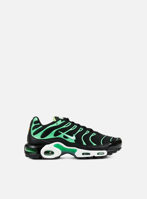 sneakers nike air max plus black white electro green