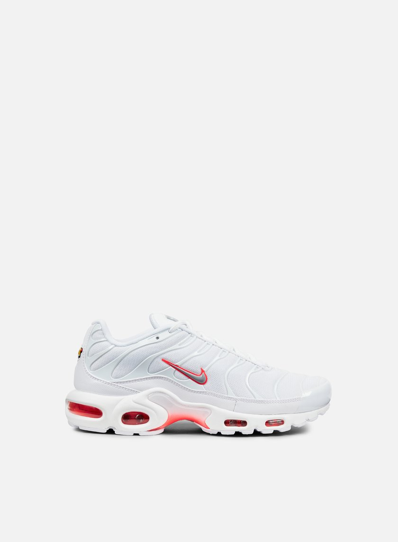 Nike - Air Max Plus, White/Wolf Grey/Bright Crimson