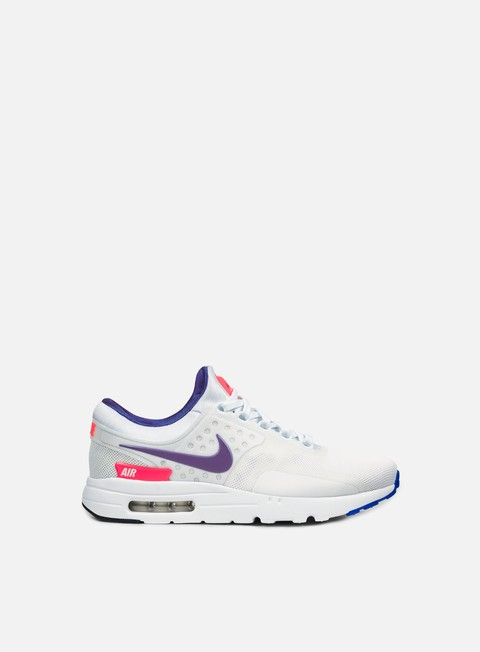 sneakers nike air max zero qs white ultramarine solar red