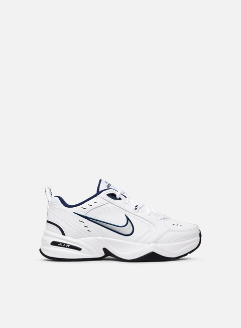 sneakers nike air monarch iv white metallic silver