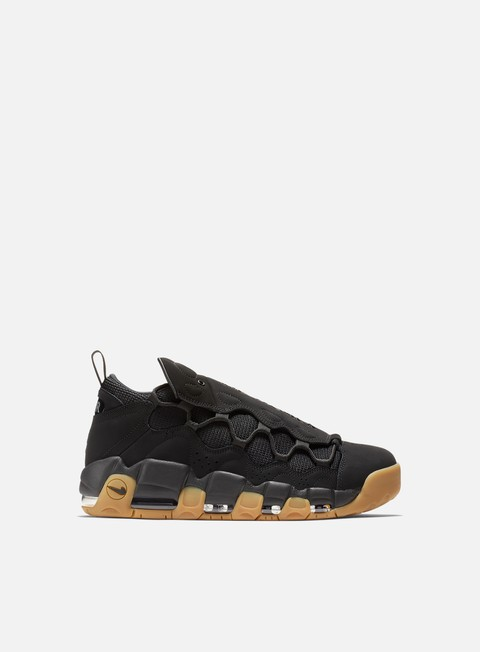 sneakers nike air more money black black gum light brown