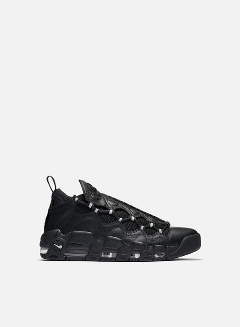 sneakers nike air more money black metallic silver black